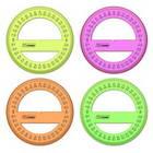 Транспортир 10 см 360 градусов, NEON Cristal, 4 цвета